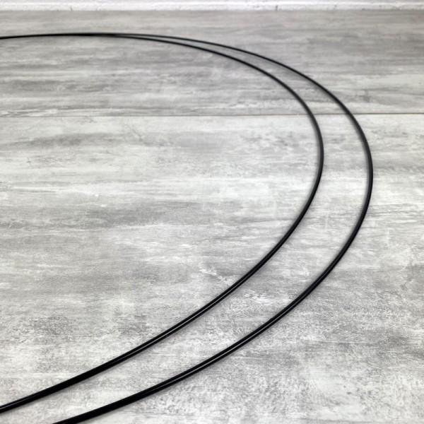 Lot de 2 Grands Cercles métalliques noir, diam. 80 cm pour abat-jour, Anneaux epoxy Attrape rêves - Photo n°3