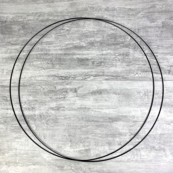 Lot de 2 Grands Cercles métalliques noir, diam. 80 cm pour abat-jour, Anneaux epoxy Attrape rêves - Photo n°1