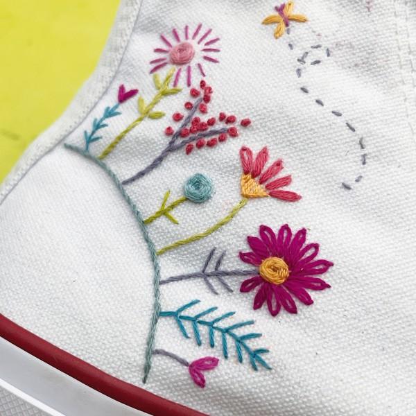 Kit Broderie Easy Custo - Planète des fleurs - Photo n°4