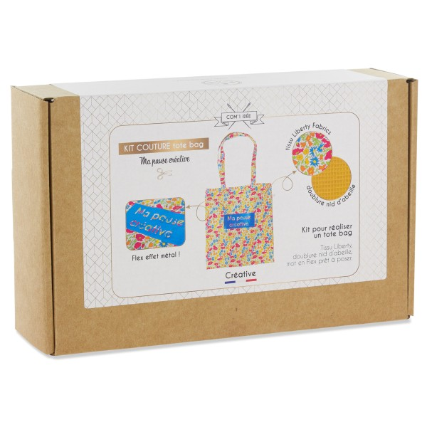 Kit Couture Tote Bag - Ma Pause Créative - 37 x 70 cm - Photo n°1