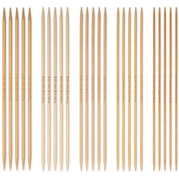 Coffret d'Aiguilles à tricoter double pointe en bambou - n°2,5 à n°4,5 - 25 pcs - Photo n°2