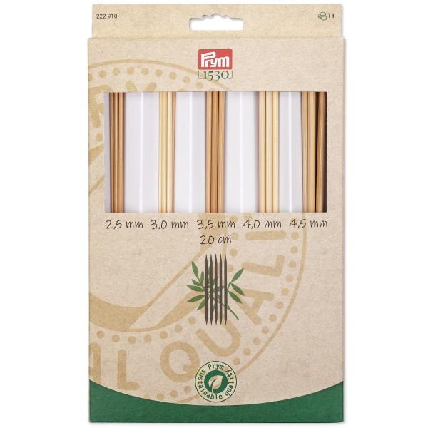 Coffret d'Aiguilles à tricoter double pointe en bambou - n°2,5 à n°4,5 - 25 pcs - Photo n°1