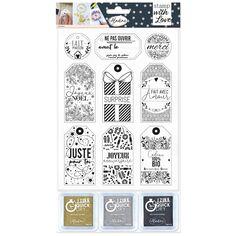 Kit Tampon de Noël - Étiquettes cadeaux - 12 pcs
