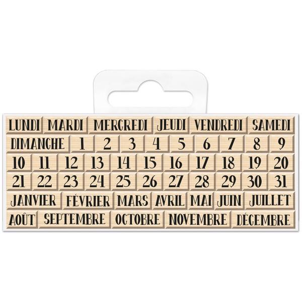 Mini Tampons bois - Calendrier - 0,6 à 1,7 cm - 49 pcs - Photo n°1