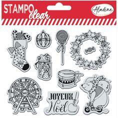 Tampons Clear Stampo - Parade de Noël - 10 pcs