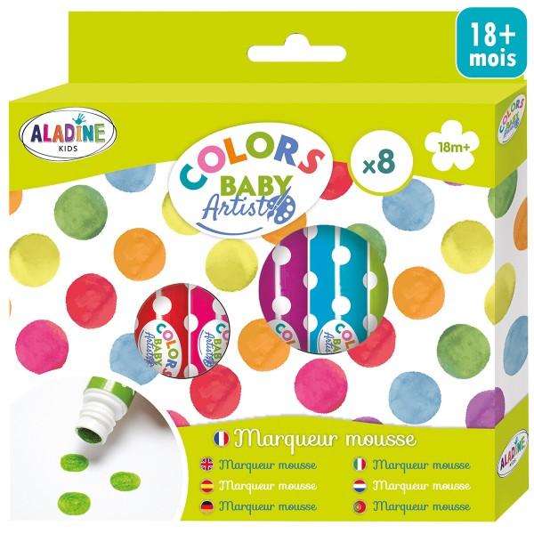 Feutres Mousse - Colors baby artist - 8 pcs - Photo n°1