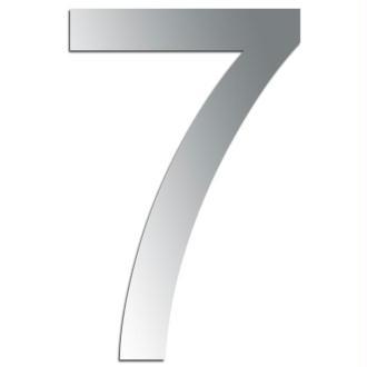 Miroir adhésif chiffre 7 - 3,2 cm