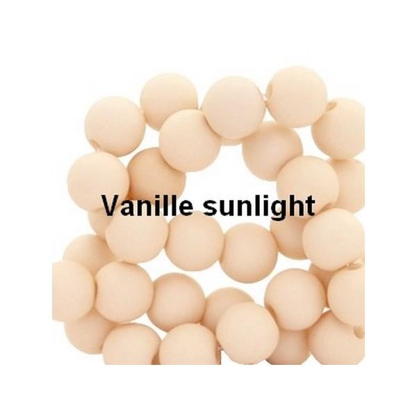 Lot de 200  perles acryliqes 6mm de diametre vanille fonce - Photo n°1