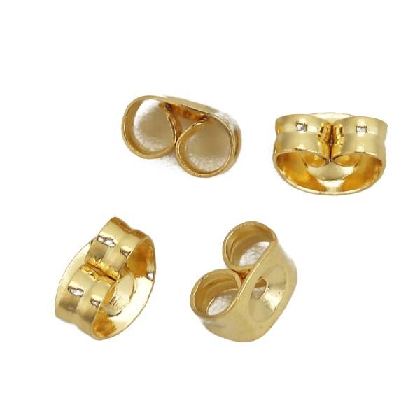 Embouts poussoirs acier inoxydable dorés x 10 - Photo n°2