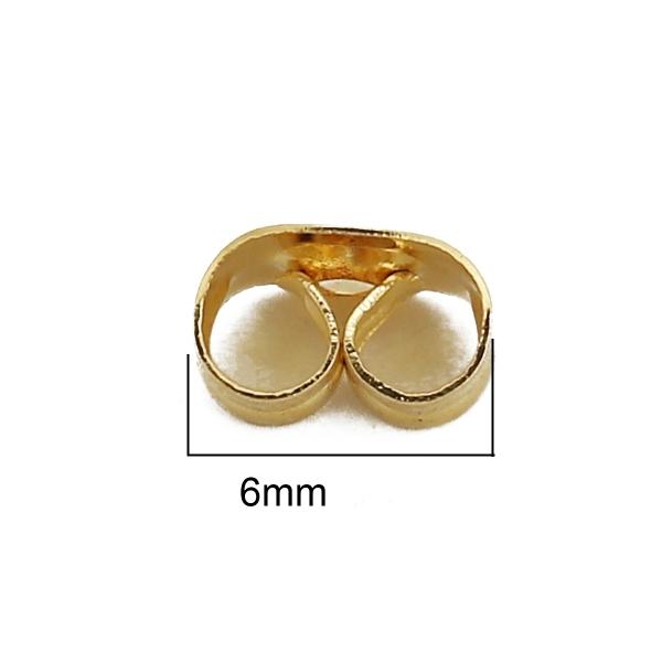 Embouts poussoirs acier inoxydable dorés x 10 - Photo n°3