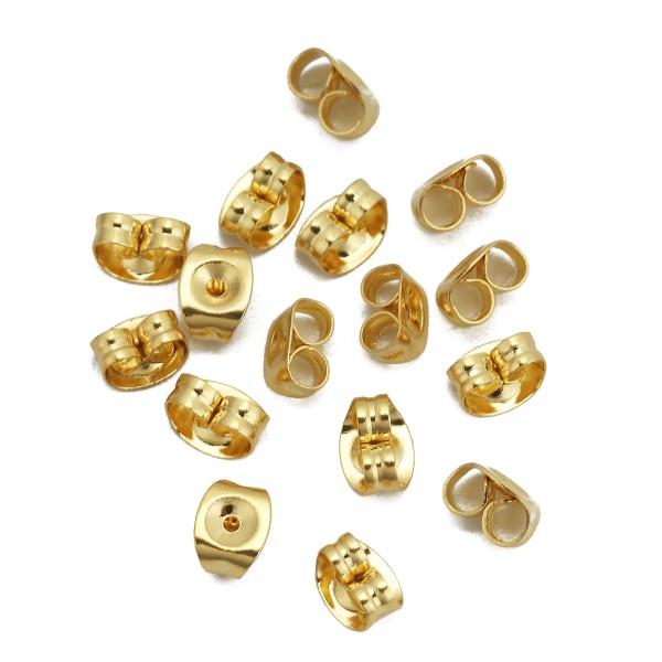 Embouts poussoirs acier inoxydable dorés x 10 - Photo n°1