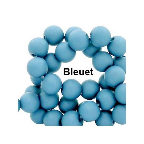 Lot de 200  perles acryliqes 6mm de diametre bleuet - Photo n°1