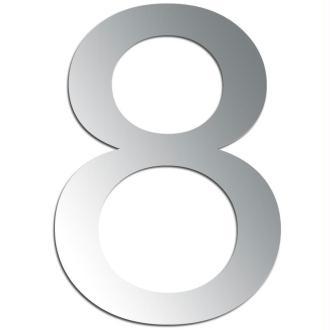 Miroir adhésif chiffre 8 - 3,2 cm
