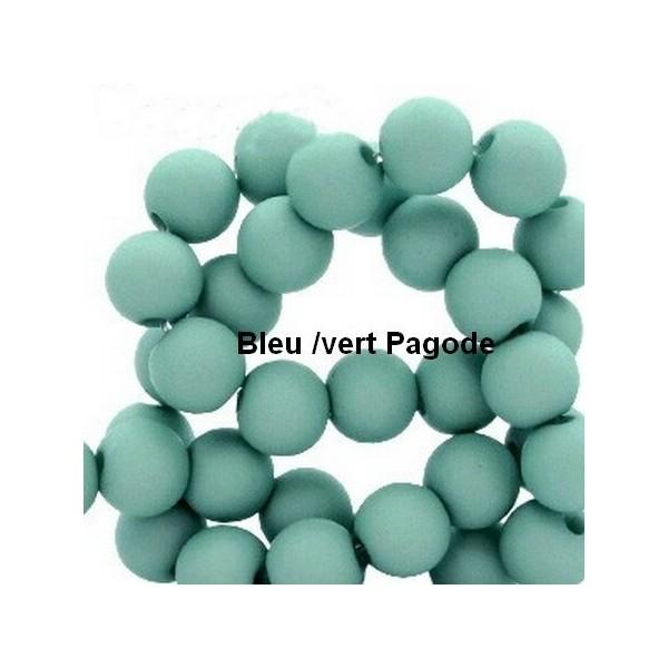 Lot de 200  perles acryliqes 6mm de diametre bleu pagode - Photo n°1