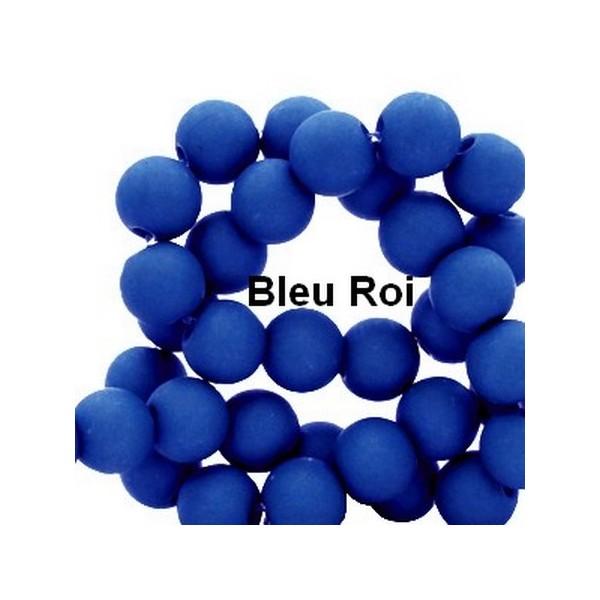 Lot de 200  perles acryliqes 6mm de diametre bleu roi - Photo n°1