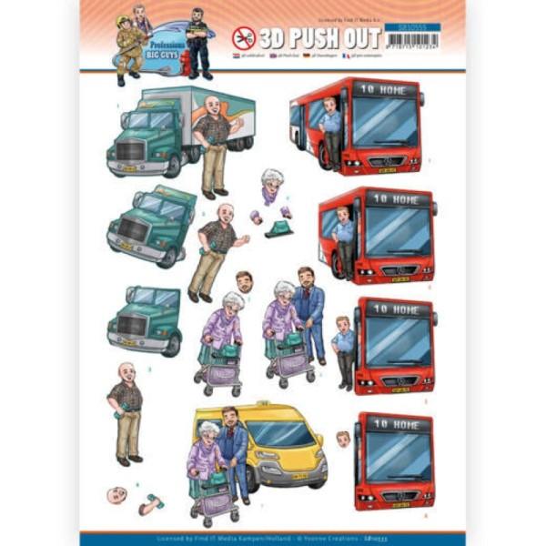 Carte 3D prédéc. - SB10555 - Professions Hommes - Conducteurs - Photo n°1