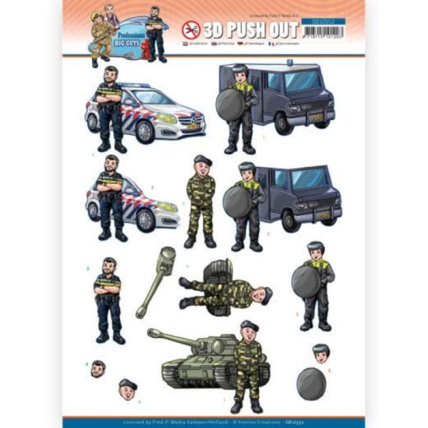 Carte 3D prédéc. - SB10552 - Professions Hommes - Police militaire - Photo n°1