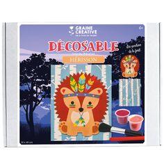 Kit Décosable Enfant - Hérisson - 30 x 40 cm - 2 pcs