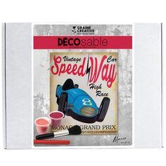 Kit Décosable - Grand Prix Vintage - 38 x 38 cm - 1 pce
