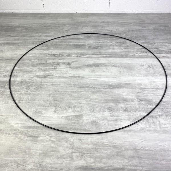 Grand Cercle XL métallique noir, diam. 70 cm pour abat-jour, Anneau epoxy Attrape rêves - Photo n°2