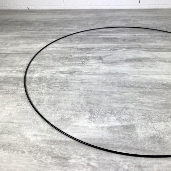 Grand Cercle XL métallique noir, diam. 70 cm pour abat-jour, Anneau epoxy Attrape rêves - Photo n°3