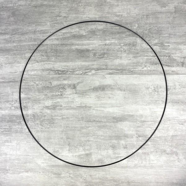 Grand Cercle XL métallique noir, diam. 70 cm pour abat-jour, Anneau epoxy Attrape rêves - Photo n°1