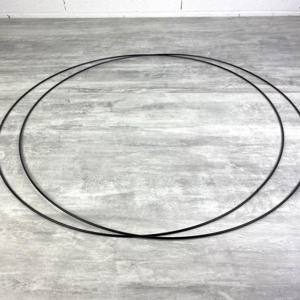 Lot de 2 Grands Cercles métalliques noir, diam. 70 cm pour abat-jour, Anneaux epoxy Attrape rêves - Photo n°2