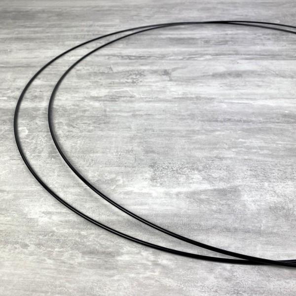 Lot de 2 Grands Cercles métalliques noir, diam. 70 cm pour abat-jour, Anneaux epoxy Attrape rêves - Photo n°3