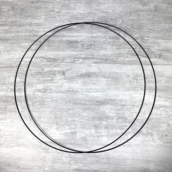 Lot de 2 Grands Cercles métalliques noir, diam. 70 cm pour abat-jour, Anneaux epoxy Attrape rêves - Photo n°1