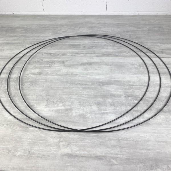 Gros lot de 3 Grands Cercles métalliques noir, diam. 70 cm pour abat-jour, Anneaux epoxy Attrape rêv - Photo n°2
