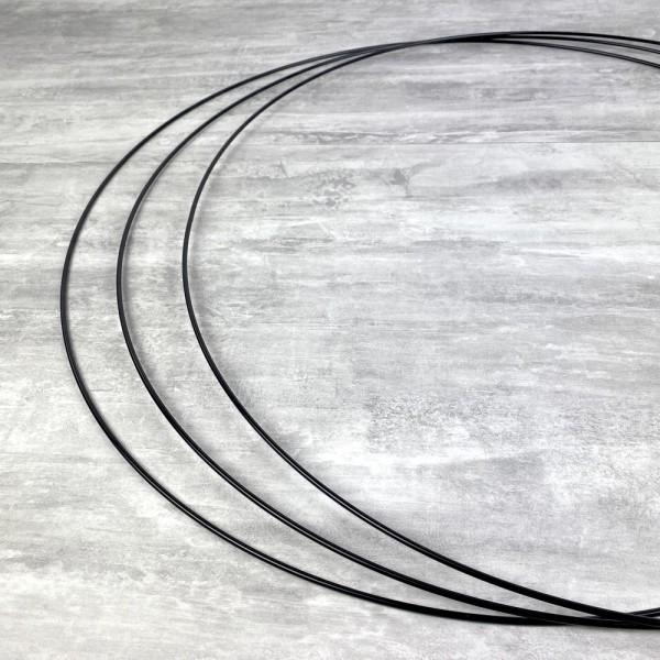 Gros lot de 3 Grands Cercles métalliques noir, diam. 70 cm pour abat-jour, Anneaux epoxy Attrape rêv - Photo n°3