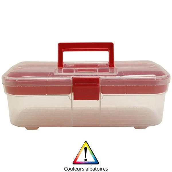 Boîte de rangement en plastique - 32,5 x 15 x 15 cm - Photo n°1