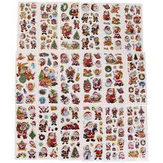 Stickers puffies Noël - de 0,5 à 6 cm - 230 pcs environ