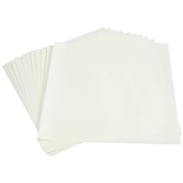 Papier Origami pour lanterne - Blanc -30 x 30 cm - 12 feuilles - Photo n°2