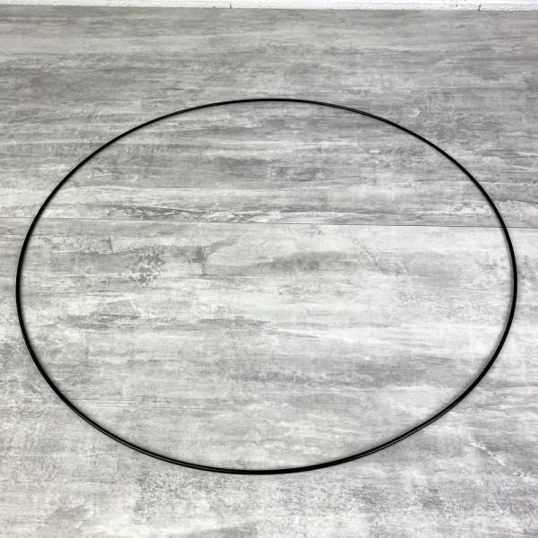 Grand Cercle métallique noir, diam. 60 cm pour abat-jour, Anneau epoxy Attrape rêves - Photo n°2