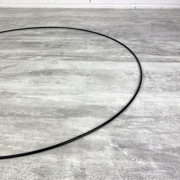 Grand Cercle métallique noir, diam. 60 cm pour abat-jour, Anneau epoxy Attrape rêves - Photo n°3