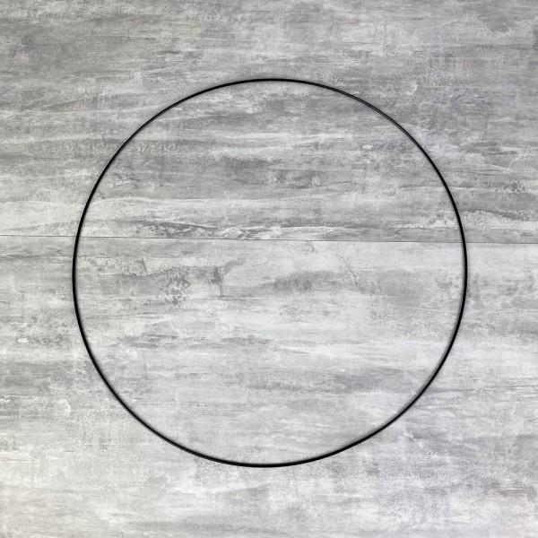 Grand Cercle métallique noir, diam. 60 cm pour abat-jour, Anneau epoxy Attrape rêves - Photo n°1