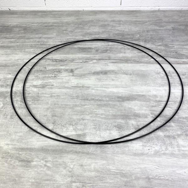 Lot de 2 Grands Cercles métalliques noir, diam. 60 cm pour abat-jour, Anneaux epoxy Attrape rêves - Photo n°2