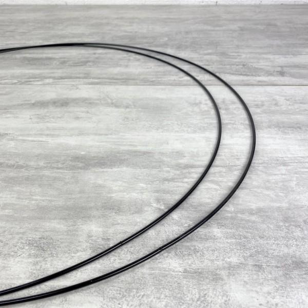 Lot de 2 Grands Cercles métalliques noir, diam. 60 cm pour abat-jour, Anneaux epoxy Attrape rêves - Photo n°3