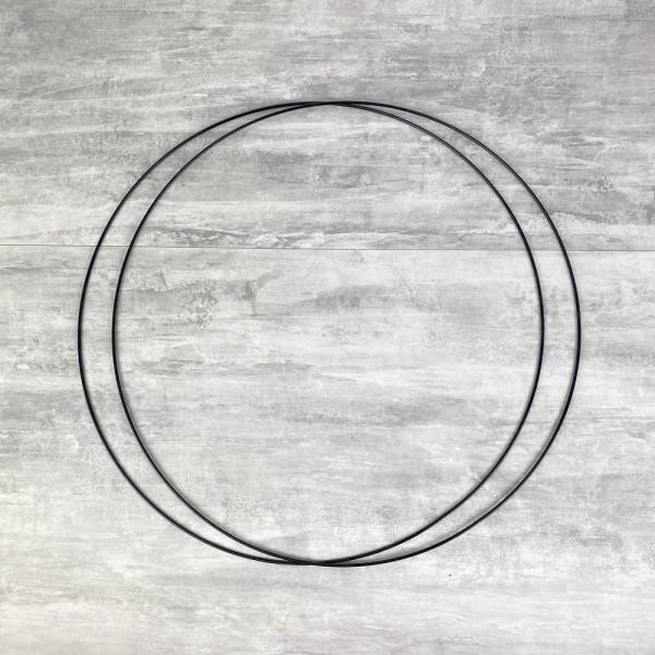Lot de 2 Grands Cercles métalliques noir, diam. 60 cm pour abat-jour, Anneaux epoxy Attrape rêves - Photo n°1