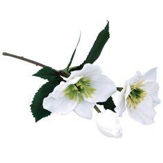 Fleur artificielle - Rose de Noël - Blanc - 34 cm - 1 pce