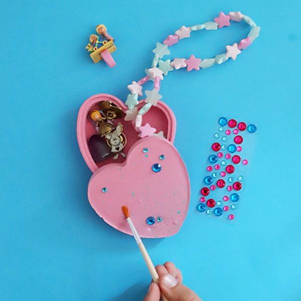 Coffret moulage en plâtre - Mon atelier - Boîte à bijoux - 1 pce - Photo n°3
