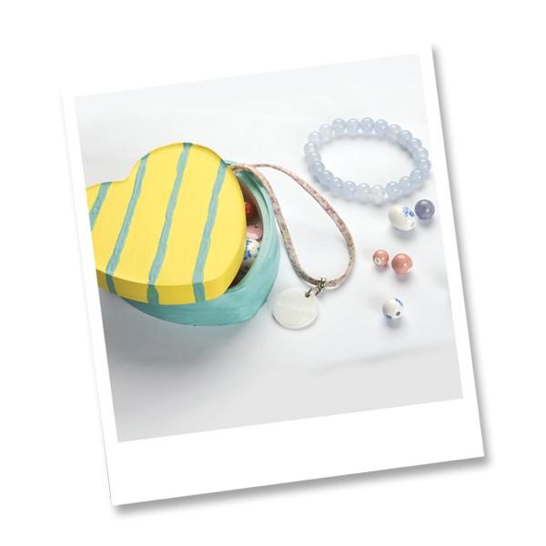 Coffret moulage en plâtre - Mon atelier - Boîte à bijoux - 1 pce - Photo n°6