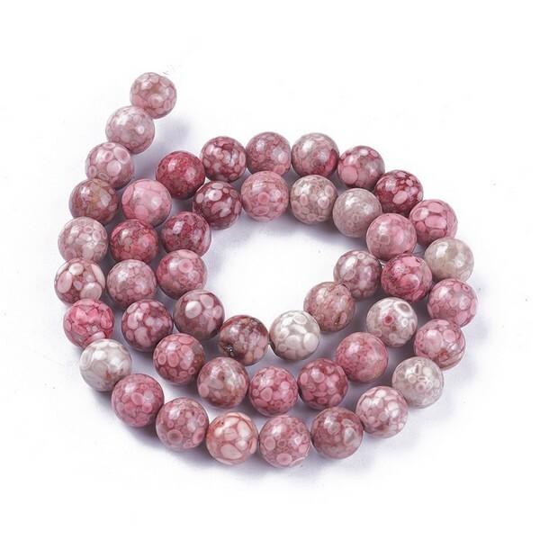 15 perles ronde en pierre naturelle MAIFANITE  8 mm - Photo n°1