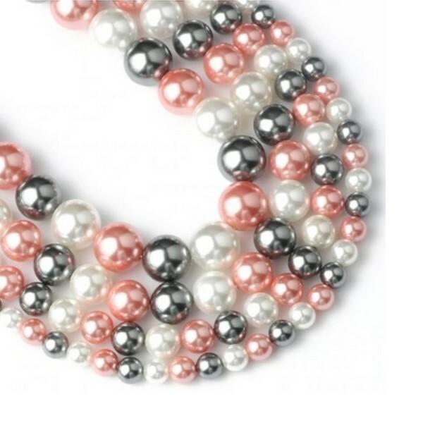 20 perles de nacre ronde 6 mm fabrication bijoux F0550706 - Photo n°1