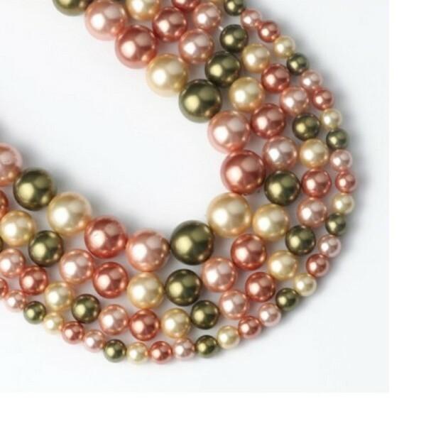 20 perles de nacre ronde 6 mm fabrication bijoux F0550806 - Photo n°1