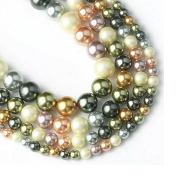 20 perles de nacre ronde 6 mm fabrication bijoux F0550506 - Photo n°1