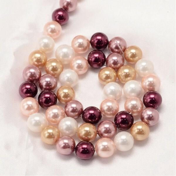 20 perles de nacre ronde 6 mm fabrication bijoux L134225 - Photo n°1