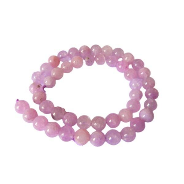 15 perles ronde en pierre naturelle ANGELITE 8 mm VIOLET - Photo n°1