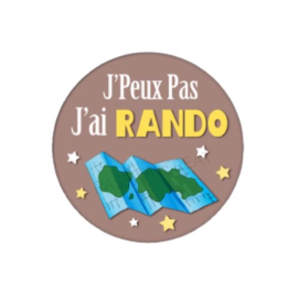 J'Peux Pas J'Ai Rando 2 Cabochons - Photo n°1